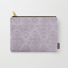 Vintage chic violet lilac floral damask pattern Carry-All Pouch