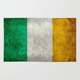 Republic of Ireland Flag, Vintage grungy Rug