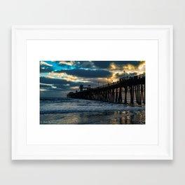 South Side Oceanside Pier ~10-2015 Framed Art Print