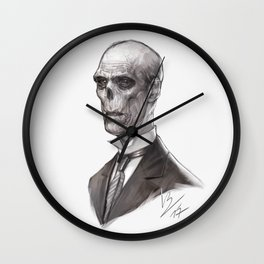 Portrait of a Ghost Wall Clock