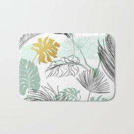 Golden Leaf Bath Mat