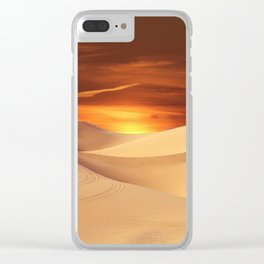 The Sunset On Desert Clear iPhone Case