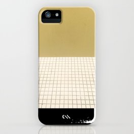 Yellow & Grid iPhone Case