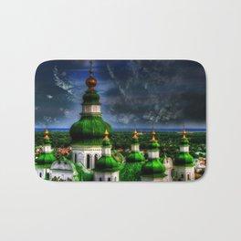 Domes of Trinity Cathedral, Chernigov, Ukraine Bath Mat