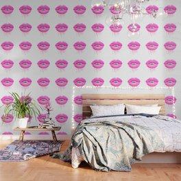 Pink lips Wallpaper
