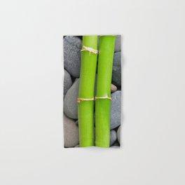Green Bamboo Sticks on Pebble Hand & Bath Towel