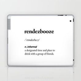 Rendezbooze black and white contemporary minimalism typography design home wall decor bedroom Laptop & iPad Skin