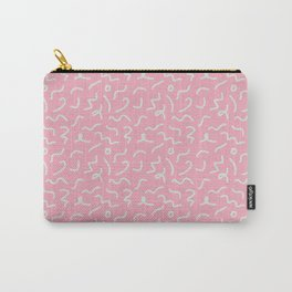 Postmodern Squiggles in Pink + Mint Carry-All Pouch