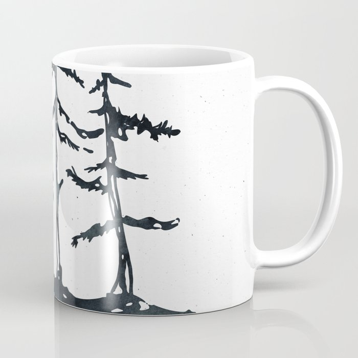 THE THREE SISTERS Black and White Coffee Mug