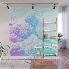 The Great Wave Unicorn Wall Mural