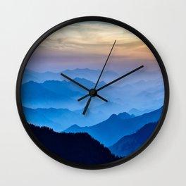 Mountains 11 Wall Clock