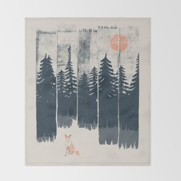 A Fox in the Wild... Throw Blanket