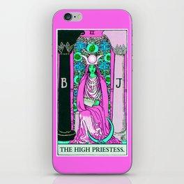 2. The High Priestess- Neon Dreams Tarot iPhone Skin