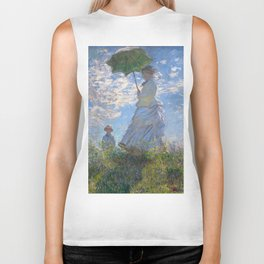 1875-Claude Monet-Woman with a Parasol - Madame Monet and Her Son-81 x 100 Biker Tank