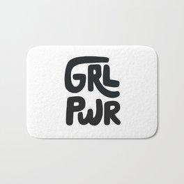Grl Pwr black and white Bath Mat