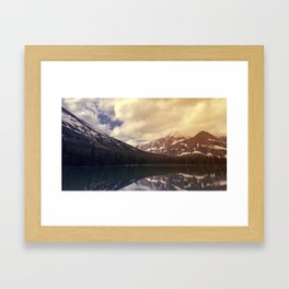 Lake Sherburne in Many Glacier Framed Art Print