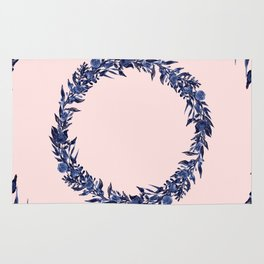 Dawn of Flowers, Blue Willow. Rug
