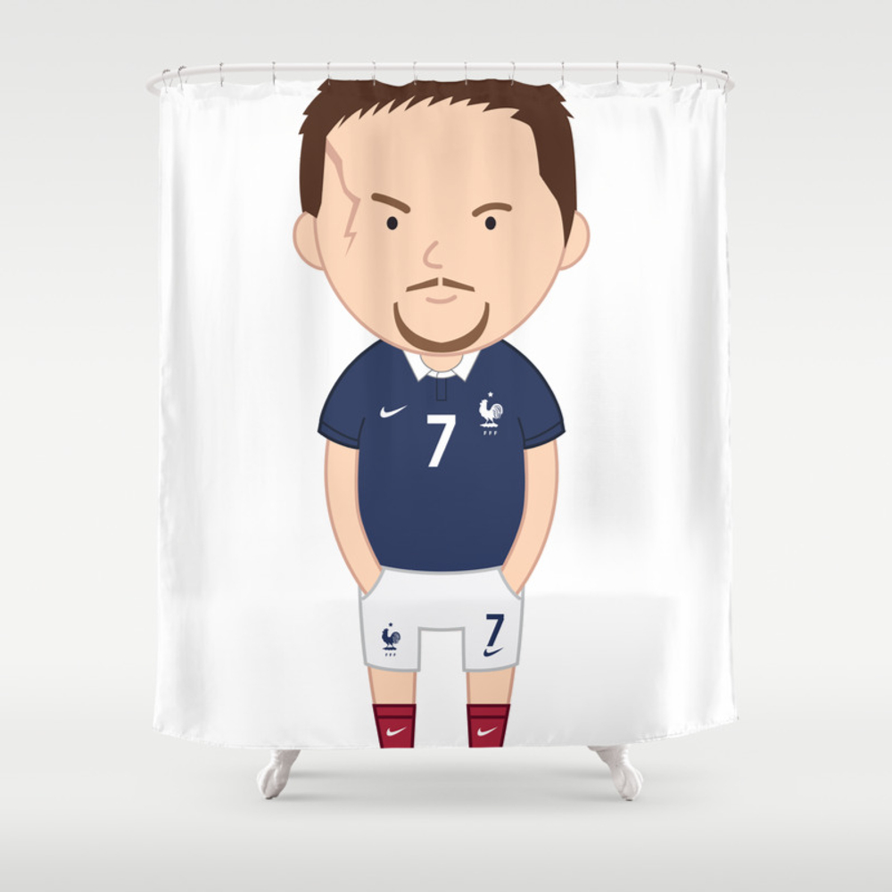 Franck Ribéry - France - World Cup 2014 Shower Curtain by Toonsoccer CTN9053105