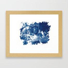 Cyanotype Polar Bear Framed Art Print