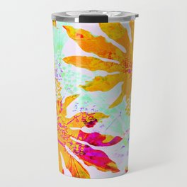 Tropical Adventure - Neon Orange, Pink and Mint Travel Mug