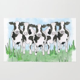 A Field of Cows Rug