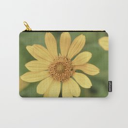Beautiful Yellow Vintage Flower Carry-All Pouch