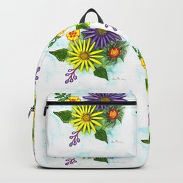 Aster Flowers Backpack