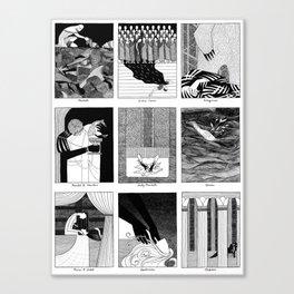 Shakespearean Death Scenes--set of 9 Canvas Print