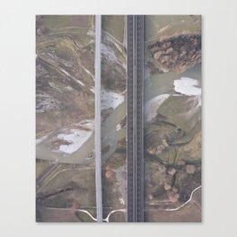 uomo e natura Canvas Print