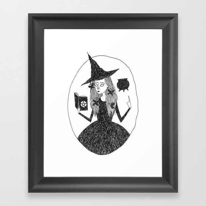 Wiccan Witch Framed Art Print By Mariathewitch Society6