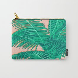 Palm trees on pink Carry-All Pouch