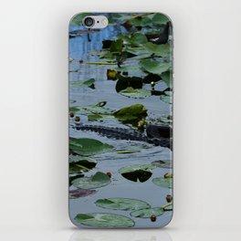 Florida Gator Amongst The Waterlilies iPhone Skin