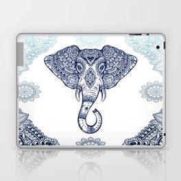 Bohemian Elephant Tribal Boho Gradient Blue Laptop & iPad Skin