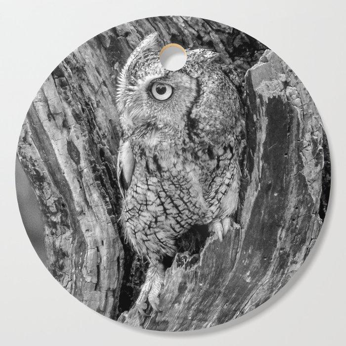 Echo the Screech Owl by Teresa Thompson Cutting Board