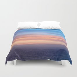 Blue Dreams Sunset - Ocean Sunset, Landscape, Scenery, Beautiful Orange Yellow Duvet Cover