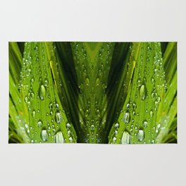 Floral Reflections in water Rug