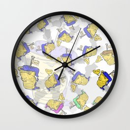 Cream & Paper Cups ! Das ist Gut ! Wall Clock
