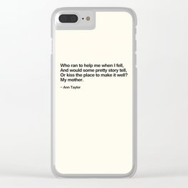 Mothers Day III Clear iPhone Case