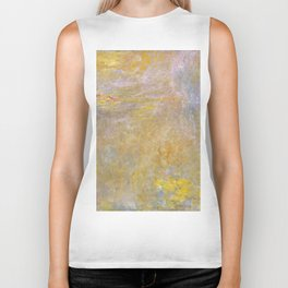 Sea-Roses (Yellow Nirwana) by Claude Monet Biker Tank