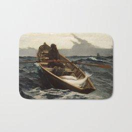 Winslow Homer, The Fog Warning, 1885 Bath Mat