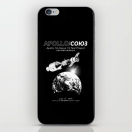 Apollo 18 Soyuz 19 docking mission Emblem-USA-USSR-1975-Space-Astronomy-Science iPhone Skin