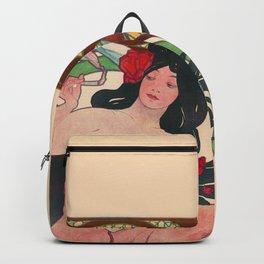 Alphonse Mucha Job Rolling Papers Art Nouveau Woman Backpack