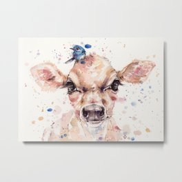 Little Calf Metal Print