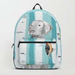 WEIMARANER AND WOODPECKERS Backpack