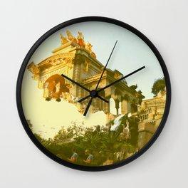 Barcelona Cubism Dreams Wall Clock