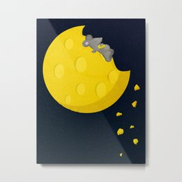 """""""If I could take a mouse to the moon…"""" Metal Print"""