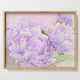 Lavender Peonies Serving Tray