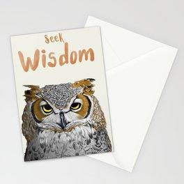 Seek Wisdom Stationery Cards