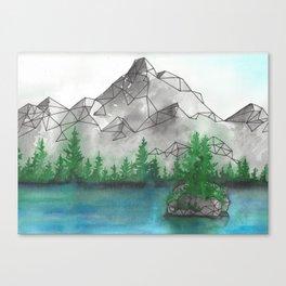Geometric Mountain 2 Canvas Print