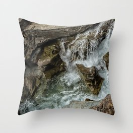 Any Which Way - Glacier NP Throw Pillow